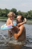Папа и доча не разлей вода